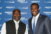 Larry Johnson (L) and Craig Robinson attends the Annual Charity Day hosted by Cantor Fitzgerald, BGC and GFI at Cantor Fitzgerald on September 11, 2018 in New York City.