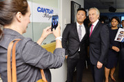 Tony Blair (R) attends the Annual Charity Day hosted by Cantor Fitzgerald, BGC and GFI at Cantor Fitzgerald on September 11, 2018 in New York City.