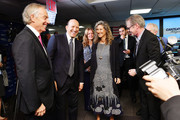 (L-R) Tony Blair, Howard Lutnick, Edie Lutnick, and Steve Buscemi attend the Annual Charity Day hosted by Cantor Fitzgerald, BGC and GFI at Cantor Fitzgerald on September 11, 2018 in New York City.