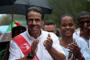 New York Gov. Andrew Cuomo walks in the annual West Indian Day Parade on September 2, 2019 in the Brooklyn borough of New York City. Mayor Bill de Blasio also walked in the parade.