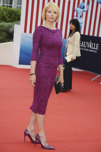 Ellen Barkin arrives for the 'Another Happy Day' screening during the 37th Deauville Film Festival on September 4, 2011 in Deauville, France.