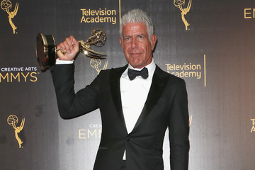 Anthony Bourdain 2016 Creative Arts Emmy Awards - Day 2 - Press Room