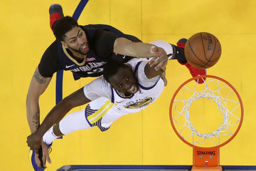 Anthony Davis Draymond Green New Orleans Pelicans vs. Golden State Warriors - Game Five