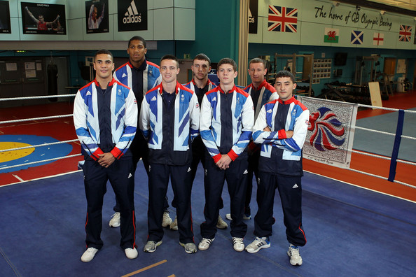 Team GB Boxing Athletes Announced For London 2012 Olympic Games [portrait,team,medal,sports,individual sports,gold medal,championship,competition event,uniform,team gb boxing athletes,anthony joshua,anthony ogogo,andrew selby,tom stalker,fred evans,great britain,london 2012 olympic games,announcement]