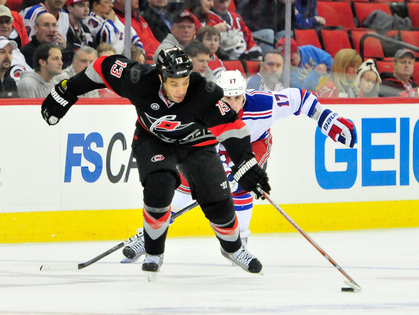 Anthony Stewart - New York Rangers v Carolina Hurricanes