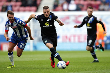 Anthony Stokes Wigan Athletic v Blackburn Rovers: Sky Bet Championship
