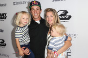 "Freestyle motocross pioneer and cast member Robbie Maddison (2L), wife Amy Maddison and sons Jagger and Kruz arrive at the ""On Any Sunday, The Next Chapter,"" a film from Red Bull Media House, premiere at Dolby Theatre on October 22, 2014 in Hollywood, California.  The film releases nationwide on November 7."