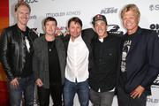 "(L-R) Werner Brell, Derek Westerlund, Scott Bradfield, Robbie Maddison and Director Dana Brown arrive at the ""On Any Sunday, The Next Chapter,"" a film from Red Bull Media House, premiere at Dolby Theatre on October 22, 2014 in Hollywood, California.  The film releases nationwide on November 7."