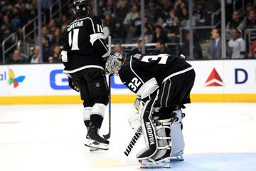 Anze Kopitar Jonathan Quick Dallas Stars v Los Angeles Kings