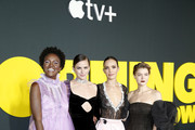 """(L-R) Krys Marshall, Shantel VanSanten, Jodi Balfour, and Sarah Jones attend Apple's global premiere of """"The Morning Show"""" at Josie Robertson Plaza and David Geffen Hall, Lincoln Center for the Performing Arts on October 28, 2019 in New York City. """"The Morning Show"""" debuts November 1 on Apple TV+, available on the Apple TV app."""