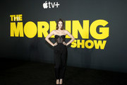 """Ella Hunt attends Apple's global premiere of """"The Morning Show"""" at Josie Robertson Plaza and David Geffen Hall, Lincoln Center for the Performing Arts on October 28, 2019 in New York City. """"The Morning Show"""" debuts November 1 on Apple TV+, available on the Apple TV app."""