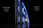 Apple's senior vice president of worldwide marketing Phil Schiller talks about the new iPhone 11 Pro during a special event on September 10, 2019 in the Steve Jobs Theater on Apple's Cupertino, California campus. Apple unveiled new products during the event.