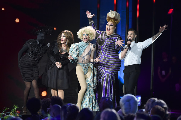 VH1 Trailblazer Honors 2018 [performance,entertainment,performing arts,event,stage,performance art,musical,lady,public event,concert,presenters,asia ohara,kameron michaels,eureka ohara,nico tortorella,stage,aquaria,new york city,the cathedral of st. john the divine,vh1 trailblazer honors]