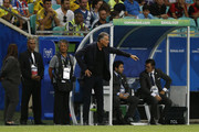 Carlos Queiroz coach of Colombia gestures during the Copa America Brazil 2019 group B match between Argentina and Colombia at Arena Fonte Nova on June 18, 2019 in Salvador, Brazil.