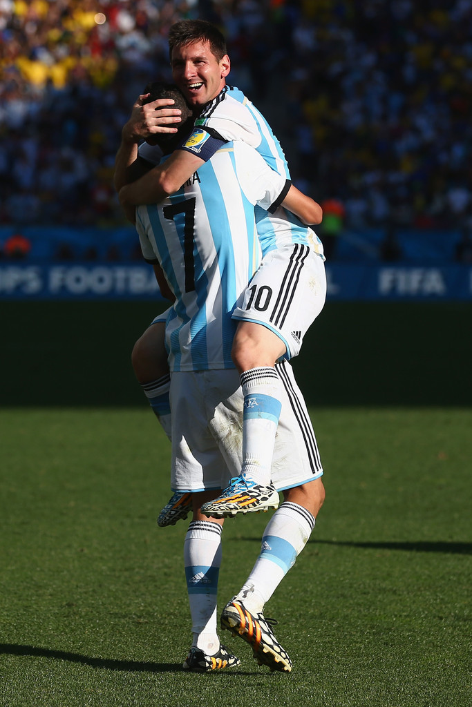 Lionel Messi and Angel Di Maria Photos Photos - Argentina ...