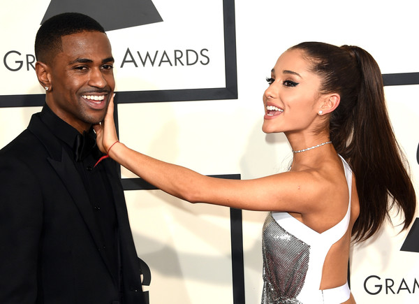 57th GRAMMY Awards - Arrivals [hair,hairstyle,muscle,dress,event,smile,gesture,long hair,little black dress,model,arrivals,big sean,ariana grande,grammy awards,los angeles,california,staples center,l,the 57th annual grammy awards]