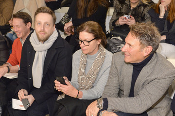 Ariel Foxman Front Row at the Ralph Lauren Show