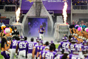 Kirk Cousins #8 of the Minnesota Vikings takes the field during pregame introductions before facing the Arizona Cardinals at U.S. Bank Stadium on October 14, 2018 in Minneapolis, Minnesota.