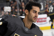 Max Pacioretty #67 of the Vegas Golden Knights skates during warmups before a preseason game against the Arizona Coyotes at T-Mobile Arena on September 16, 2018 in Las Vegas, Nevada. The Golden Knights defeated the Coyotes 7-2.