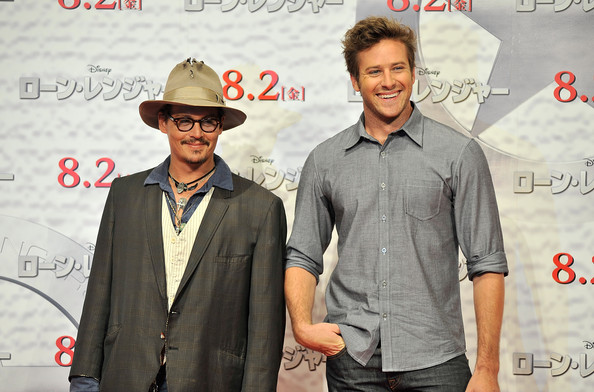 Armie Hammer Johnny Depp and Armie Hammer attend the 'Lone Ranger ...