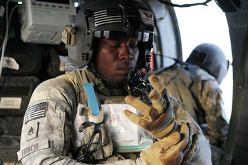 Rahkeem Francis US Army Medevac Tends To The Wounded In Afghanistan