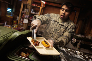 Jose Flores U.S. Army Works in Mountain Bases in Afghanistan