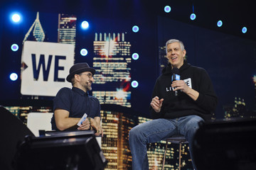 Arne Duncan Shay Mitchell Hosts WE Day Illinois to Celebrate Young People Changing the World