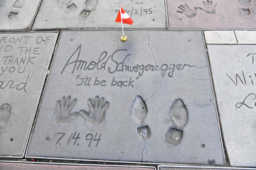 Arnold Schwarzenegger TCL Chinese Theatre Celebrates Veterans Day By Honoring Hollywood Stars Who Served In The U.S. Military