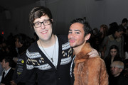Associate Editor of Teen Vogue Andrew Bevan and Adrien Field attend Mercedes-Benz Fashion Week at Bryant Park on February 15, 2010 in New York City.