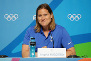 Olympian Angela Ruggiero speaks during a press conference on Day 4 of the Rio 2016 Olympic Games on August 9, 2016 in Rio de Janeiro, Brazil.