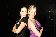 Julia Allison and Katrina Szish are seen around Lincoln Center during Mercedes-Benz Fashion Week on September 11, 2010 in New York City.