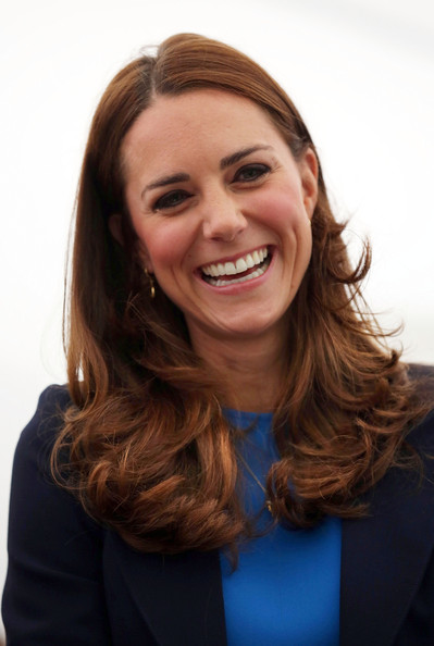 Catherine, Duchess of Cambridge smiles as she attends a SportsAid reception at 'Home Nation House' on July 29, 2014 in Glasgow, Scotland. The Duchess is patron of the charity, which funds the rising stars of British sport to help them reach the top and compete internationally.