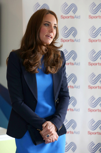 Catherine, Duchess of Cambridge attends a SportsAid reception at 'Home Nation House' on July 29, 2014 in Glasgow, Scotland. The Duchess is patron of the charity, which funds the rising stars of British sport to help them reach the top and compete internationally.