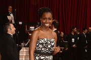 Actress Adepero Oduye departs the Oscars at Hollywood & Highland Center on March 2, 2014 in Hollywood, California.