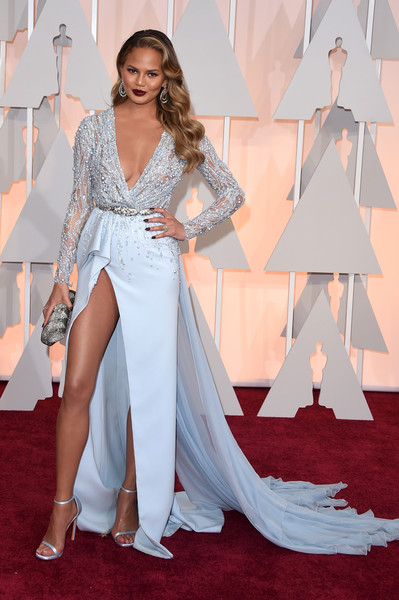 Model Chrissy Teigen attends the 87th Annual Academy Awards at Hollywood & Highland Center on February 22, 2015 in Hollywood, California.