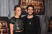 Lauren Gregory and recording artist Thomas Rhett attend the 2014 American Country Countdown Awards at Music City Center on December 15, 2014 in Nashville, Tennessee.