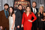Dave Haywood of Lady Antebellum, Kelli Cashiola, Chris Tyrrell, Hillary Scott and Charles Kelley of Lady Antebellum, and Cassie McConnell attend the 2014 American Country Countdown Awards at Music City Center on December 15, 2014 in Nashville, Tennessee.