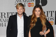 Kian Egan and Jodi Albert attend The BRIT Awards 2014 at 02 Arena on February 19, 2014 in London, England.