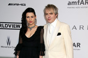 Nefer Suvio and Nick Rhodes attend amfAR's 21st Cinema Against AIDS Gala Presented By WORLDVIEW, BOLD FILMS, And BVLGARI at Hotel du Cap-Eden-Roc on May 22, 2014 in Cap d'Antibes, France.