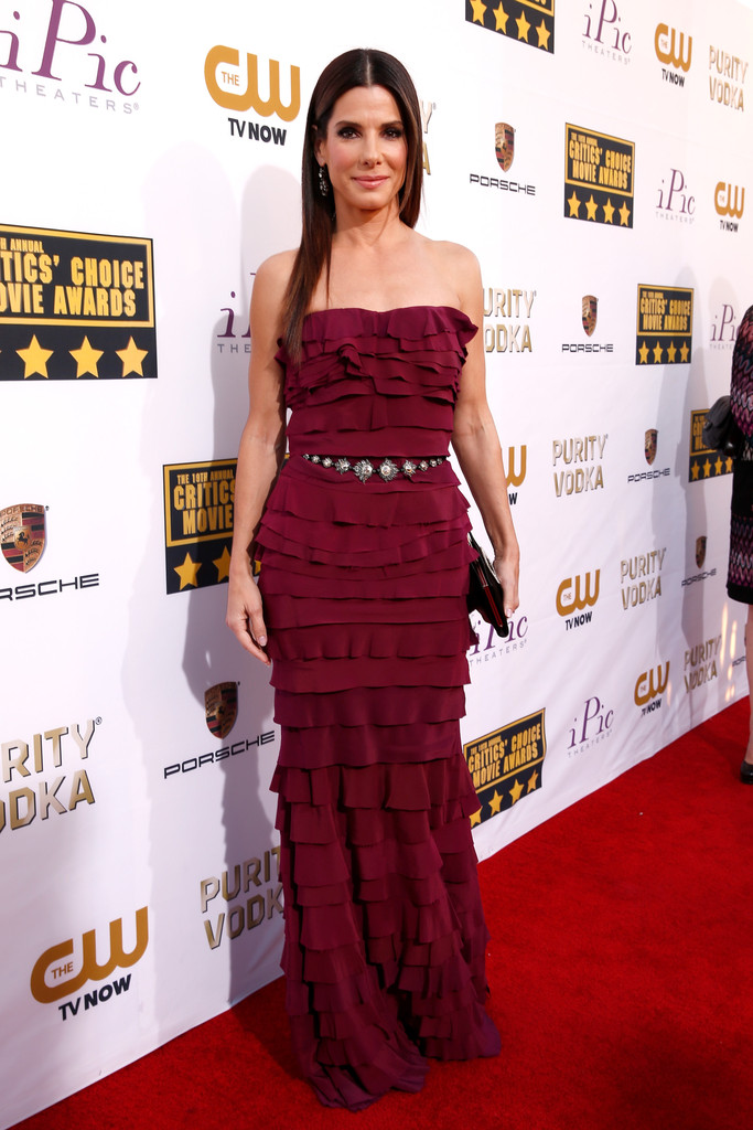 Actress Sandra Bullock attends the 19th Annual Critics' Choice Movie Awards at Barker Hangar on January 16, 2014 in Santa Monica, California.