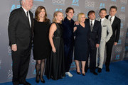(L-R) Producers Jonathan Sehring, Sandra Adair, Cathleen Sutherland, actors Ellar Coltrane, Patricia Arquette, director Richard Linklater, actor Ethan Hawke and Producer John Sloss attend the 20th annual Critics' Choice Movie Awards at the Hollywood Palladium on January 15, 2015 in Los Angeles, California.