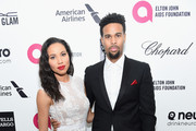 Actress Jurnee Smollett and Josiah Bell attend the 23rd Annual Elton John AIDS Foundation Academy Awards Viewing Party on February 22, 2015 in Los Angeles, California.