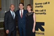 Musician Joshua Redman, Louise Miliband, and IRC President and CEO David Miliband attend the Annual Freedom Award Benefit hosted by the International Rescue Committee at the Waldorf-Astoria hotel on November 6, 2013 in New York City.