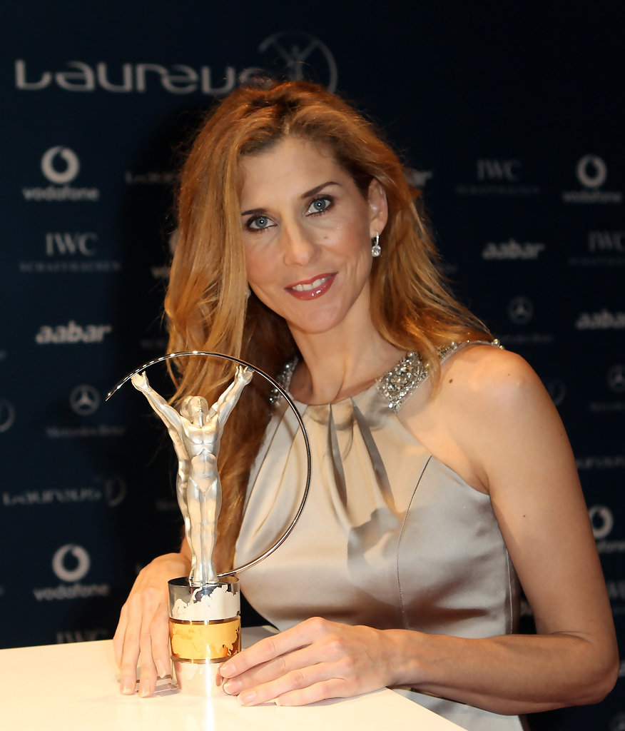 Monica Seles s s Arrivals Laureus World Sports Awards
