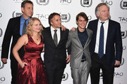 "(L-R)  Creators and cast of ""Boyhood"" John Sloss, Cathleen Sutherland, Richard Linklater, Ellar Coltrane and Jonathan Sehring attend the 2014 New York Film Critics Circle Awards at TAO Downtown on January 5, 2015 in New York City."
