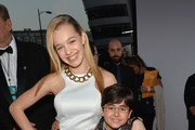 Actors Sadie Calvano (L) and Blake Garrett Rosenthal attend The 40th Annual People's Choice Awards at Nokia Theatre L.A. Live on January 8, 2014 in Los Angeles, California.
