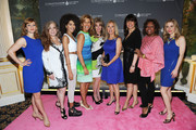 (L-R) Megan Sikora, Randi Rahm, Jetta, Hoda Kotb, Laura Heatherly, Kathie Lee Gifford, Sharon Dastur, Robin Quivers, and Kerry Butler attend the T.J. Martell Foundation's Women of Influence Awards on May 1, 2014 in New York City.