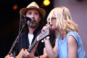 Musical group Broken Social Scene performs on the Sycamore stage during Arroyo Seco Weekend at the Brookside Golf Course at on June 24, 2017 in Pasadena, California.
