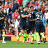 Raheem Sterling John Stones Photos - Raheem Sterling of Manchester City celebrates after scoring his side's first goal with team mates during the Premier League match between Arsenal FC and Manchester City at Emirates Stadium on August 12, 2018 in London, United Kingdom. - Arsenal vs. Manchester City - Premier League