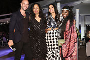 Cameron Saul, Shinique Smith, Rosario Dawson and Abrima Erwiah attend the #TogetherBand Party during Art Basel Miami 2019 at Miami Beach Botanical Garden on December 5, 2019 in Miami Beach, Florida.